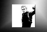 Steve McQueen Canvas Print, Steve McQueen Canvas Art, bullitt movie print, steve mcqueen canvas, bullitt movie canvas