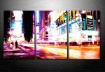 time lapse canvas art, abstract cityscape art