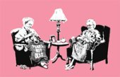 banksy art grannies, banksy grannies canvas, banksy canvas art prints, banksy wall art, banksy art uk