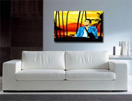 scarface art, canvas picture, digital canvas art, modern art, photo to canvas