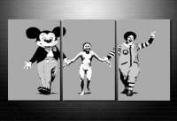 banksy canvas art, Banksy Napalm wall art, banksy canvas picture, cheap banksy art uk, banksy wall art