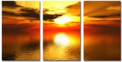 landscape art print, tryptych canvas