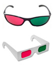 3d glasses red green plastic