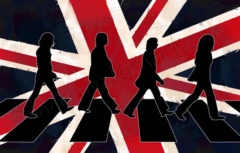 Abbey Road Wall Beatles Canvas Art Album Print