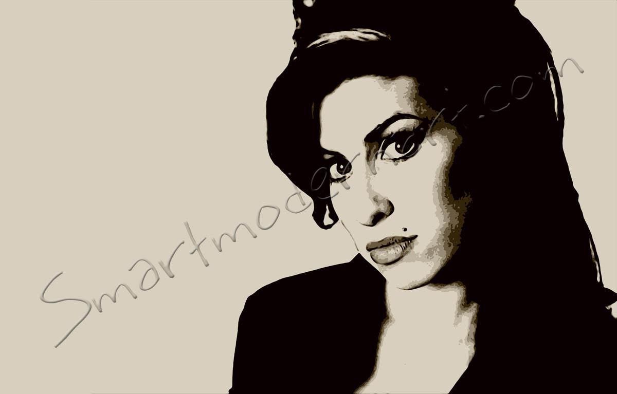 Amy Winehouse Canvas Art