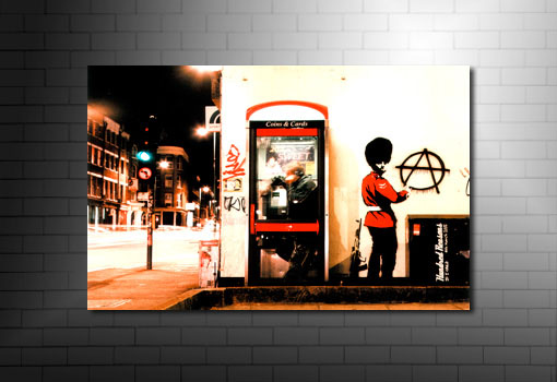 Banksy Wall Art Anarchist Guard, banksy anarchist guard photo, banksy canvas art, banksy royal guard canvas ,banksy art uk
