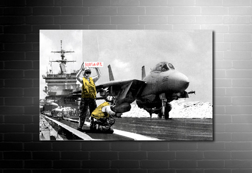 banksy canvas applause print, banksy aircraft carrier, banksy photo, banksy wall art, banksy pop art