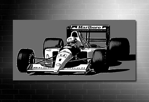 Ayrton Senna Canvas, formula one print, senna art, formula 1 canvas art