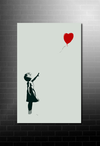 Banksy Canvas Art Balloon Girl, balloon girl canvas, cheap banksy art uk, balloon girl banksy picture, banksy canvas print