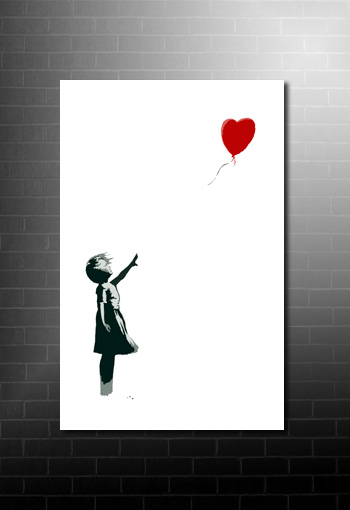 Banksy Balloon Girl print, banksy canvas print, banksy art uk, banksy art uk, banksy canvas wall art