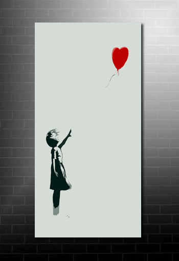 Banksy Balloon Girl reproduction, cheap banksy art uk, banksy balloon girl print, banksy art uk