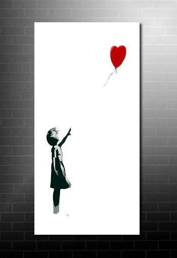 Banksy Balloon Girl wall art, cheap banksy art uk, banksy balloon girl print, banksy canvas print
