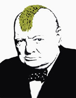 banksy churchill canvas, baksy churchill wall art, banksy wall art, cheap banksy canvas, banksy prints uk