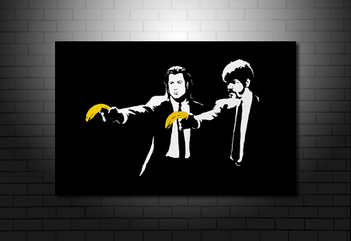 Banksy Pulp Fiction canvas, pulp fiction banksy canvas, banksy canvas art, banksy canvas wall art, pulp fiction banksy print