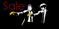 pulp fiction banksy canvas, pulp fiction banksy wall art, banksy canvas, banksy canvas uk, pulp fiction banksy print