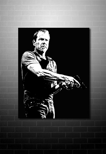 Kiefer Sutherland Canvas pop art, 24 tv show canvas, kiefer sutherland art, kiefer sutherland movie art, modern movie art