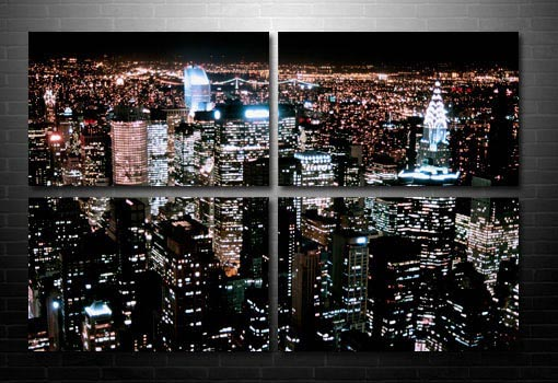 Cityscape Wall Art, New York City Canvas