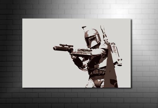 Boba Fett movie Art, star wars canvas art print, star wars movie art, movie art prints, boba fett canvas