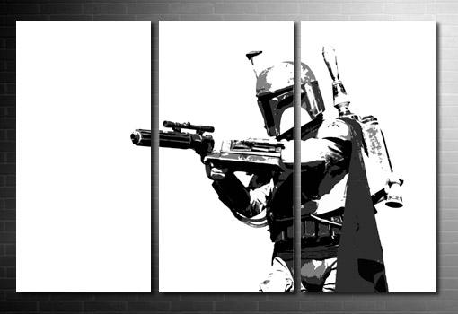Boba Fett Canvas movie art, star wars canvas at print, star wars movie art, movie art prints, boba fett canvas