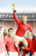 Bobby Moore Canvas Art, Football World Cup Canvas, Football Canvas Art, Bobby Moore Print