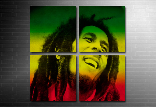 large Bob Marley Canvas Print, bob marley pop art, marley wall art, bob marley canvas art uk, bob marley art