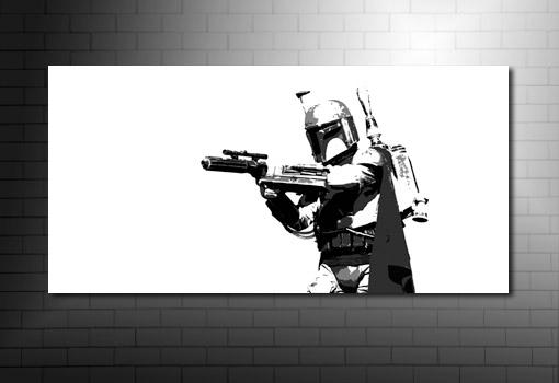 Boba Fett movie wall art, Boba Fett Canvas Art, star wars canvas art print, star wars movie art, movie art prints