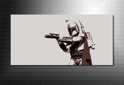 Boba Fett star wars Canvas Art, Boba Fett Canvas Art, star wars canvas at print, star wars movie art, movie art prints