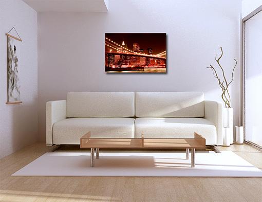brooklyn bridge canvas, cityscape new york cityscape print