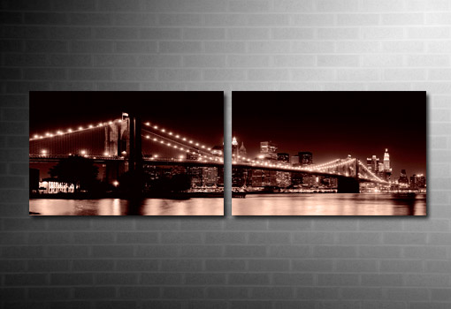 Manhattan Skyline Wall Art, New York Canvas art