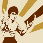 bruce lee pop art, bruce lee