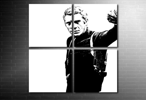 Steve McQueen Canvas Art, bullitt movie art print, movie canvas art, steve mcqueen canvas, wall art uk