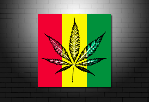 Cannabis Leaf Canvas wall art, Cannabis Leaf print