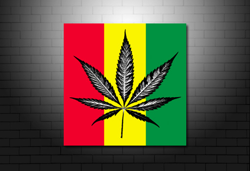 Cannabis Leaf canvas, Cannabis Leaf print, cannabis art on canvas, Bob Marley print, bob marley canvas art uk