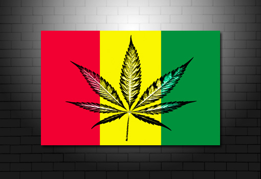 Cannabis Leaf wall art print, Cannabis Leaf print, bob marley canvas
