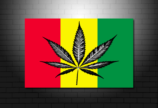 Cannabis Leaf canvas art print, Cannabis canvas print, bob marley canvas