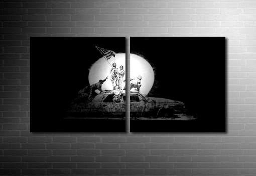 Banksy Canvas Car picture, banksy artwork, cheap banksy art uk, banksy wall art