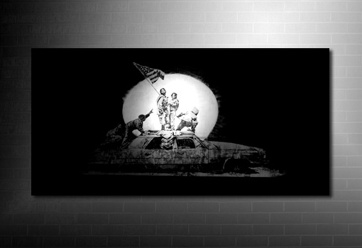Banksy Canvas art print, banksy art print, banksy art uk, cheap banksy art uk, banksy wall art