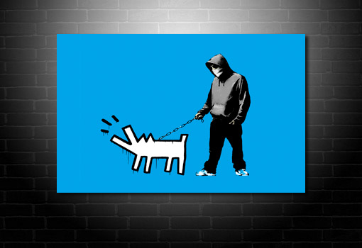 Banksy Choose Your Weapon wall art, canvas art banksy, banksy canvas prints, banksy wall art