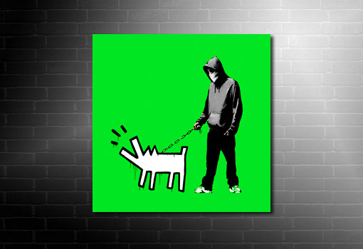 Banksy Choose Your Weapon Canvas green, canvas art banksy