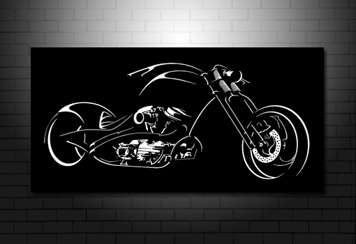 Chopper Bike Canvas, Chopper Bike Wall Art, Chopper Bike Print