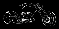 Chopper Bike Canvas Art, Chopper Bike Art Print, Chopper Bike Print