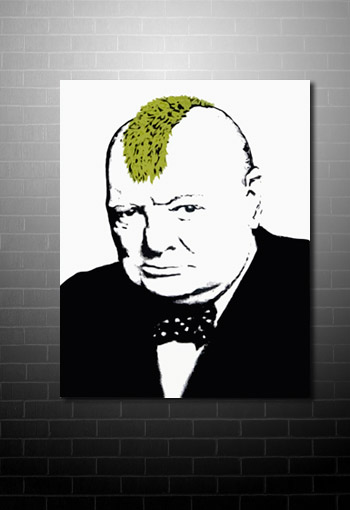 Banksy Churchill Canvas Print, banksy churchill, banksy winston churchill, banksy canvas uk, banksy canvas prints