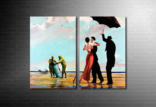 Crude Oil Banksy Canvas reproduction art, banksy art prints uk, banksy art prints