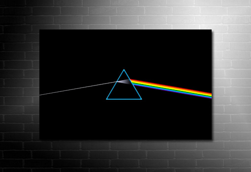 pink floyd canvas print, pink floyd wall art, pink floyd canvas, dark side of the moon canvas, cheap canvas art uk, pink floyd pop art