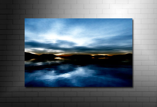 digital seascape art, landscape canvas picture, seascape wall art