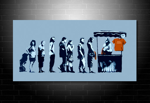 Banksy Canvas Print Destroy Capitalism, destroy capitalism banksy print, destroy capitalism banksy art, banksy wall art, banksy canvas artwork