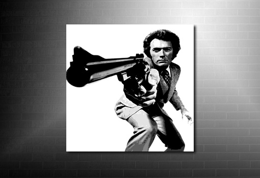 Dirty Harry Canvas Print, clint eastwood canvas print, clint eastwood movie art, dirty harry canvas print, canvas art prints uk