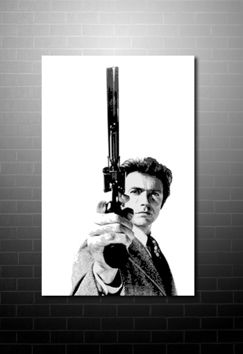 Dirty Harry canvas Art, Dirty Harry Canvas Print, clint eastwood canvas print, clint eastwood movie art