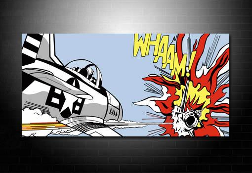Dog Fight Canvas Art, Roy Lichtenstein canvas