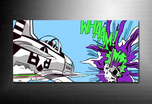 Dog Fight Canvas Art, Roy Lichtenstein canvas, Dog fight Pop Art, Roy Lichtenstein Pop Art